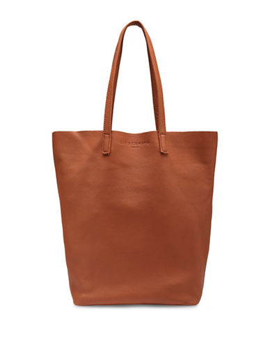Liebeskind Viki Leather Tote-COGNAC-One Size