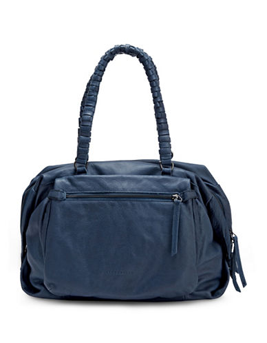 Liebeskind Akashi Leather Satchel-BLUE-One Size