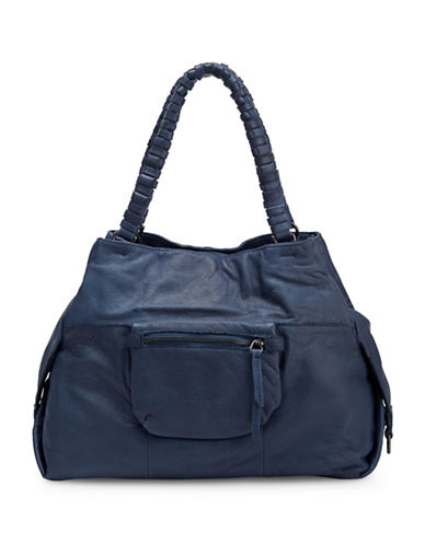 Liebeskind Anjo S Leather Satchel-BLUE-One Size
