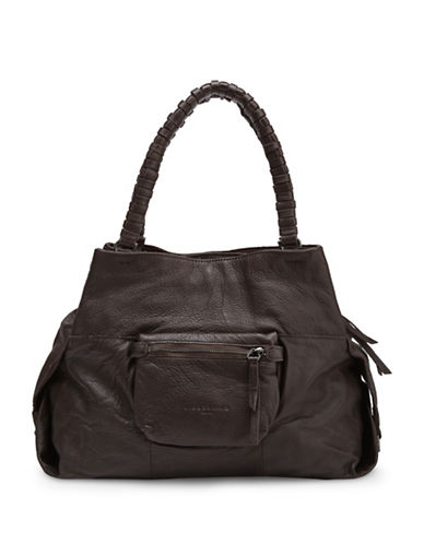 Liebeskind Anjo S Leather Satchel-BROWN-One Size