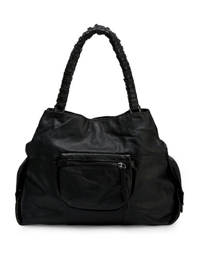 Liebeskind Anjo S Leather Satchel-BLACK-One Size