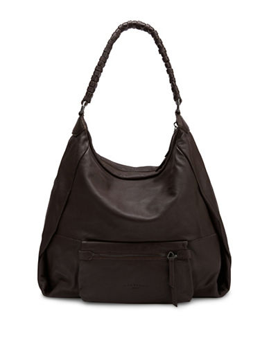 Liebeskind Asaka Leather Hobo-BROWN-One Size