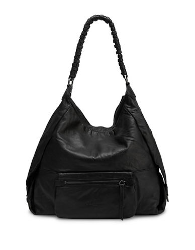 Liebeskind Asaka Leather Hobo-BLACK-One Size