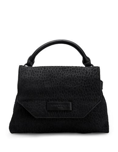 Liebeskind Ikeda Textured Leather Crossbody-BLACK-One Size