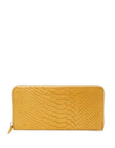 Liebeskind Sally Pebble Leather Continental Bag-YELLOW-One Size