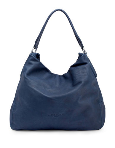 Liebeskind Yokohama Double Dye Stud Leather Hobo-BLUE-One Size