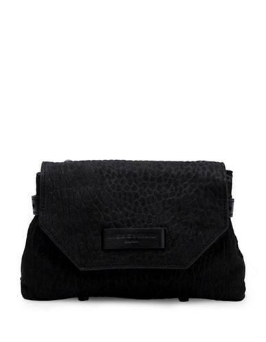 Liebeskind Itami Textured Leather Crossbody-BLACK-One Size