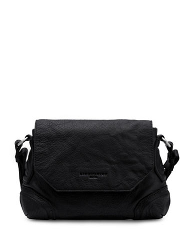 Liebeskind Saporo Leather Crossbody-BLACK-One Size