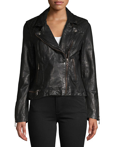 Liebeskind Leather Biker Jacket-BLACK-Small