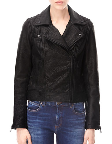 Liebeskind Slim-Fit Leather Biker Jacket-BLACK-X-Small 88799212_BLACK_X-Small