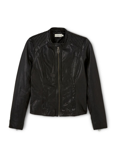 Liebeskind Leather Jacket-BLACK-Large