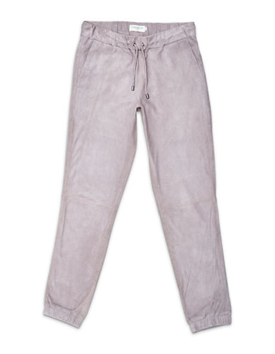 Liebeskind Leather Jogger Pants-PINK-Small