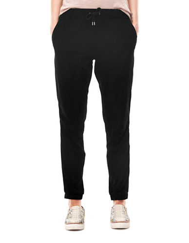 Liebeskind Leather Jogger Pants-BLACK-Medium