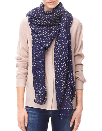 Liebeskind Solid Dot Scarf-PURPLE-One Size