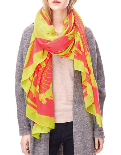 Liebeskind Dragon Printed Scarf-PINK-One Size