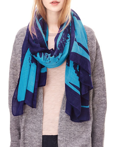 Liebeskind Dragon Printed Scarf-BLUE-One Size