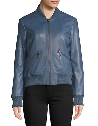 Liebeskind Leather Bomber Jacket-BLUE-X-Small 88798450_BLUE_X-Small