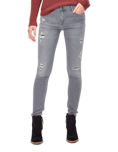 Liebeskind Distressed Skinny Jeans-GREY-29