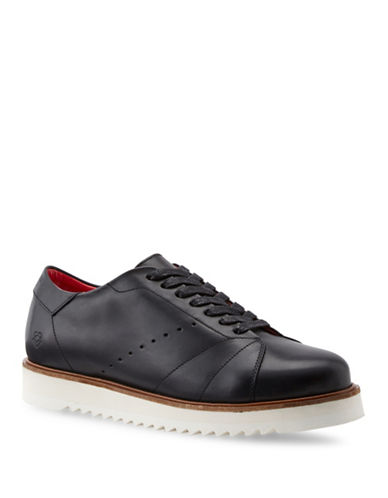 Liebeskind Lace-Up Leather Sneakers-BLACK-EUR 38/US 8