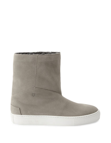 Liebeskind Slip-On Leather Boots-BEIGE-EUR 39/US 9