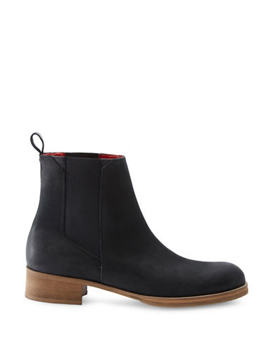 Liebeskind Nubuck Leather Chelsea Boots-BLACK-EUR 36/US 6