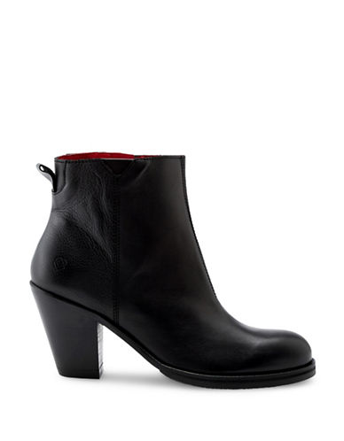 Liebeskind Nappa Leather Ankle Booties-BLACK-EUR 40/US 10