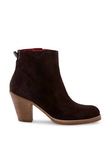 Liebeskind Nubuck Ankle Booties-BROWN-EUR 40/US 10