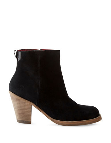 Liebeskind Nubuck Ankle Booties-BLACK-EUR 36/US 6