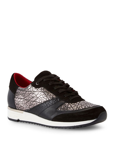 Liebeskind Honey Comb Pattern Leather Sneaker-COPPER-EUR 38/US 8