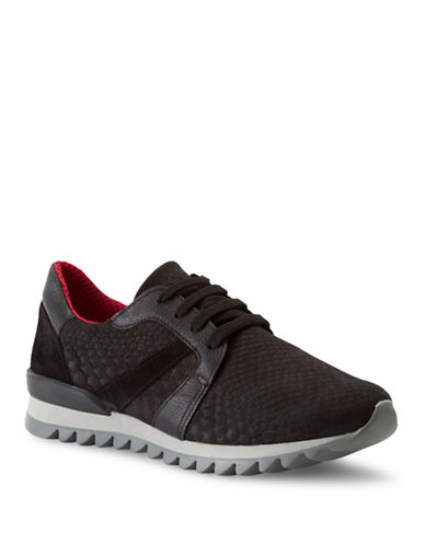 Liebeskind LS0113 Leather Sneakers-BLACK/RED-EUR 37/US 7