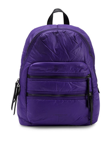 Liebeskind Saku Nylon and Leather Backpack-PURPLE-One Size