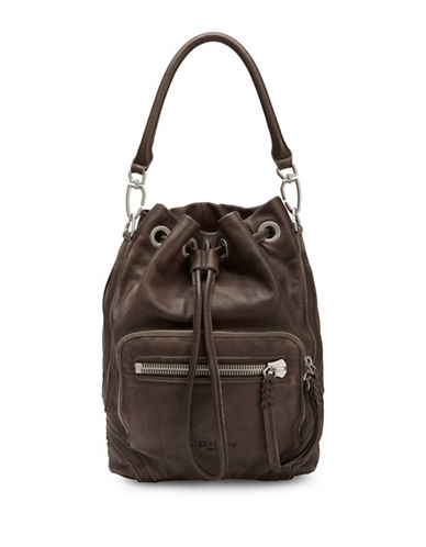 Liebeskind Shibata Leather Bucket Bag-GREY-One Size