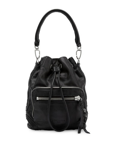 Liebeskind Shibata Leather Bucket Bag-BLACK-One Size