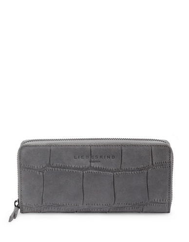 Liebeskind Sally Pebble Leather Continental Bag-MEDIUM GREY-One Size