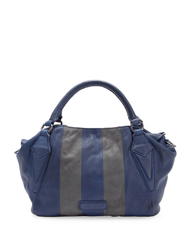 Liebeskind Amanda Vintage Stripe Satchel-BLUE-One Size