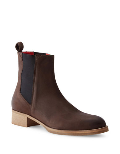 Liebeskind Nubuck Leather Chelsea Boots-BROWN-EUR 40/US 10