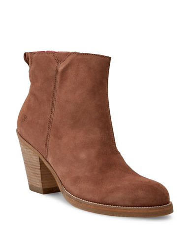 Liebeskind Nubuck Ankle Booties-BROWN-EUR 39/US 9