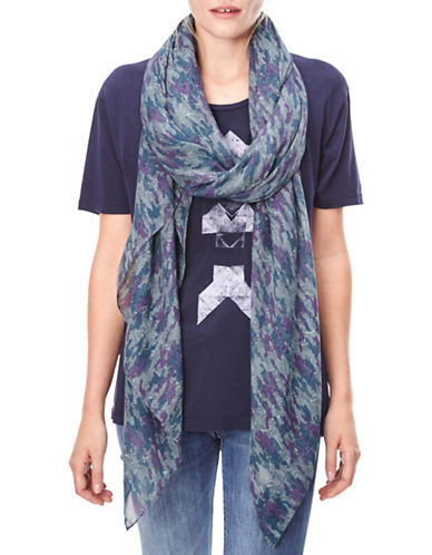Liebeskind Camou Wave Scarf-BLUE-One Size