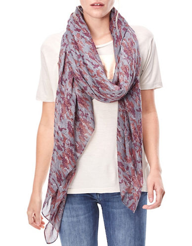 Liebeskind Camou Wave Scarf-GREY-One Size