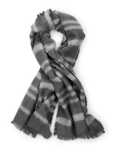 Liebeskind Stripes Print Stole-GREY-One Size