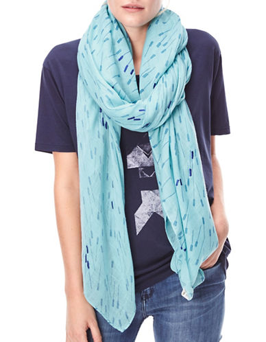 Liebeskind Arrow Print Stole-BLUE-One Size