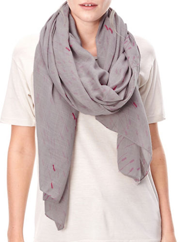 Liebeskind Arrow Print Stole-PINK-One Size