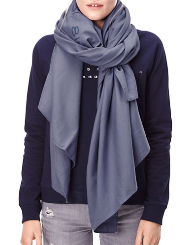 Liebeskind Numbercode Print Scarf-BLUE-One Size