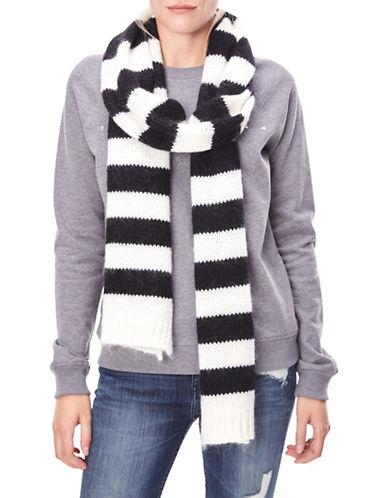 Liebeskind Wool-Blend Chunky Knit Stripe Scarf-WHITE-One Size