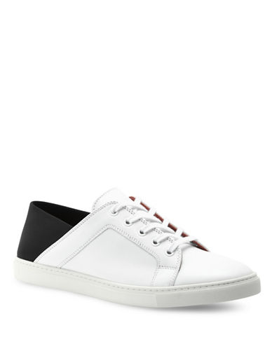 Liebeskind Colourblock Leather Sneakers-WHITE/BLACK-EUR 38/US 8