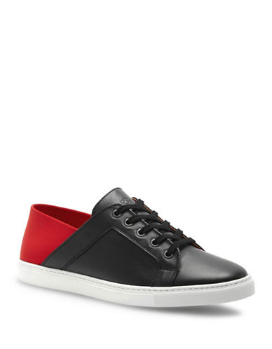 Liebeskind Colourblock Leather Sneakers-BLACK/RED-EUR 41/US 11