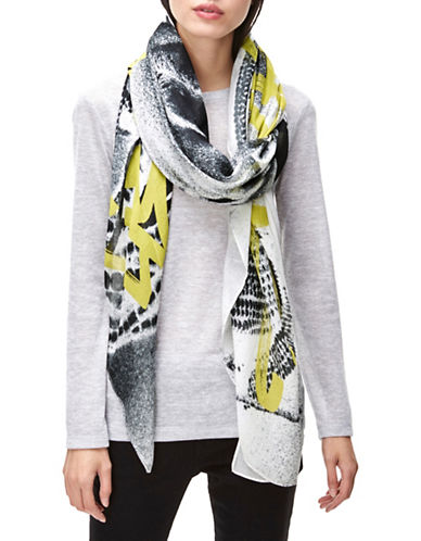 Liebeskind Aziza Graffiti Scarf-YELLOW-One Size