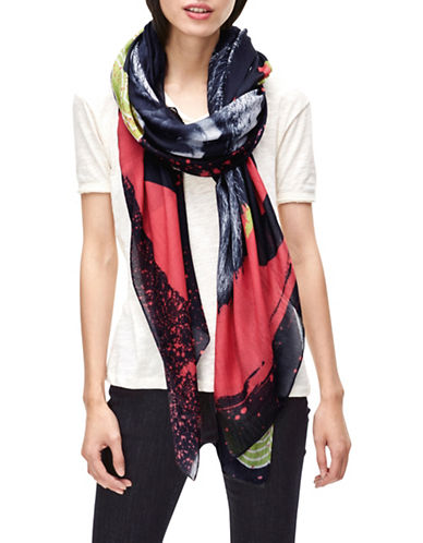 Liebeskind Animal Gang Scarf-CORAL-One Size