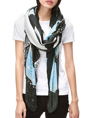 Liebeskind Animal Gang Scarf-BLUE-One Size