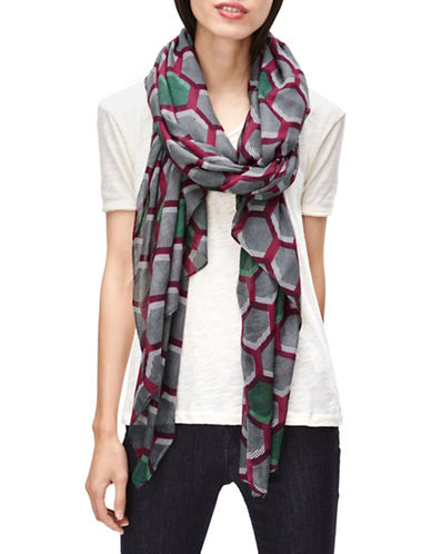 Liebeskind Hexagon Printed Scarf-PINK-One Size